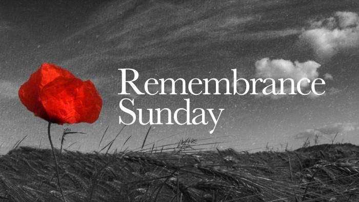 Remembrance Sunday this weekend