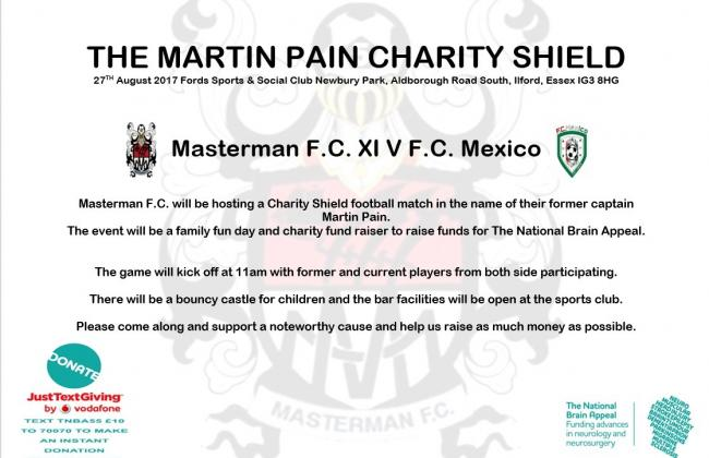 Support the Martin Pain Charity Shield this Sunday