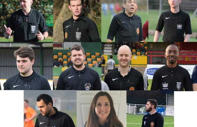 Corinthian referees receive prestigious county cup final appointments