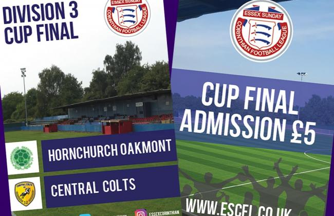 CUP FINAL PREVIEW: Central Colts and Hornchurch Oakmont meet in Division 3 Cup climax