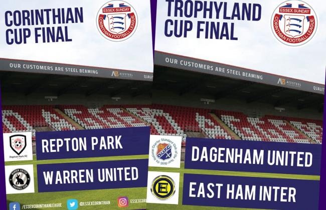 CUP FINALS PREVIEW: Corinthian and Trophyland Cups conclude on Sunday in double header special