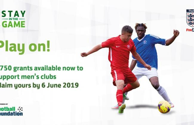 Deadline approaching for clubs to apply for FA Stay in the Game grants of £750