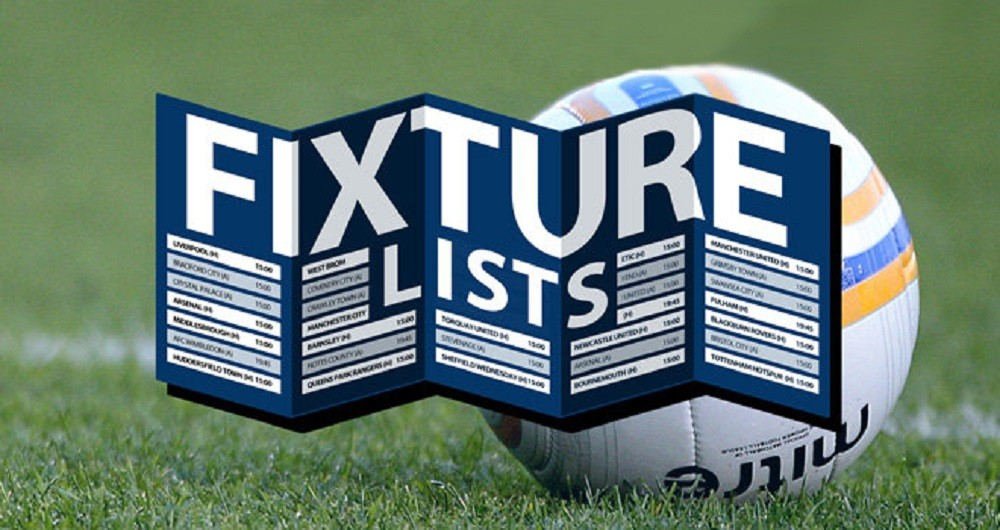 Fixtures into January now published