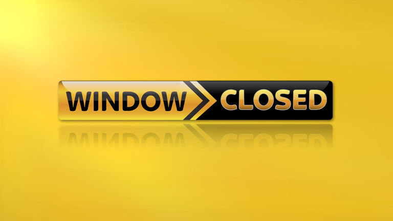 Registrations and transfer window NOW CLOSED