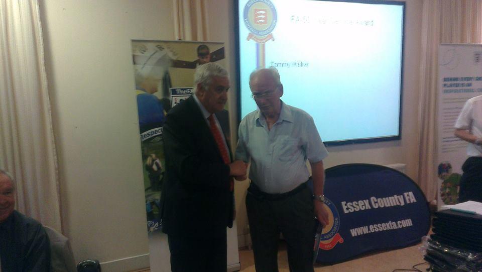 Tommy Walker wins 50-year FA Award